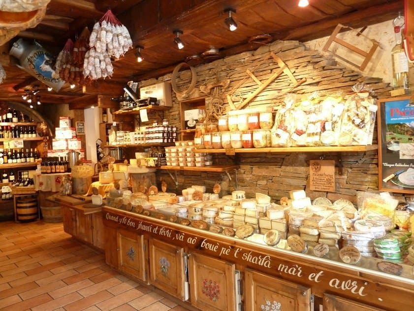 Cheese shop, Morzine