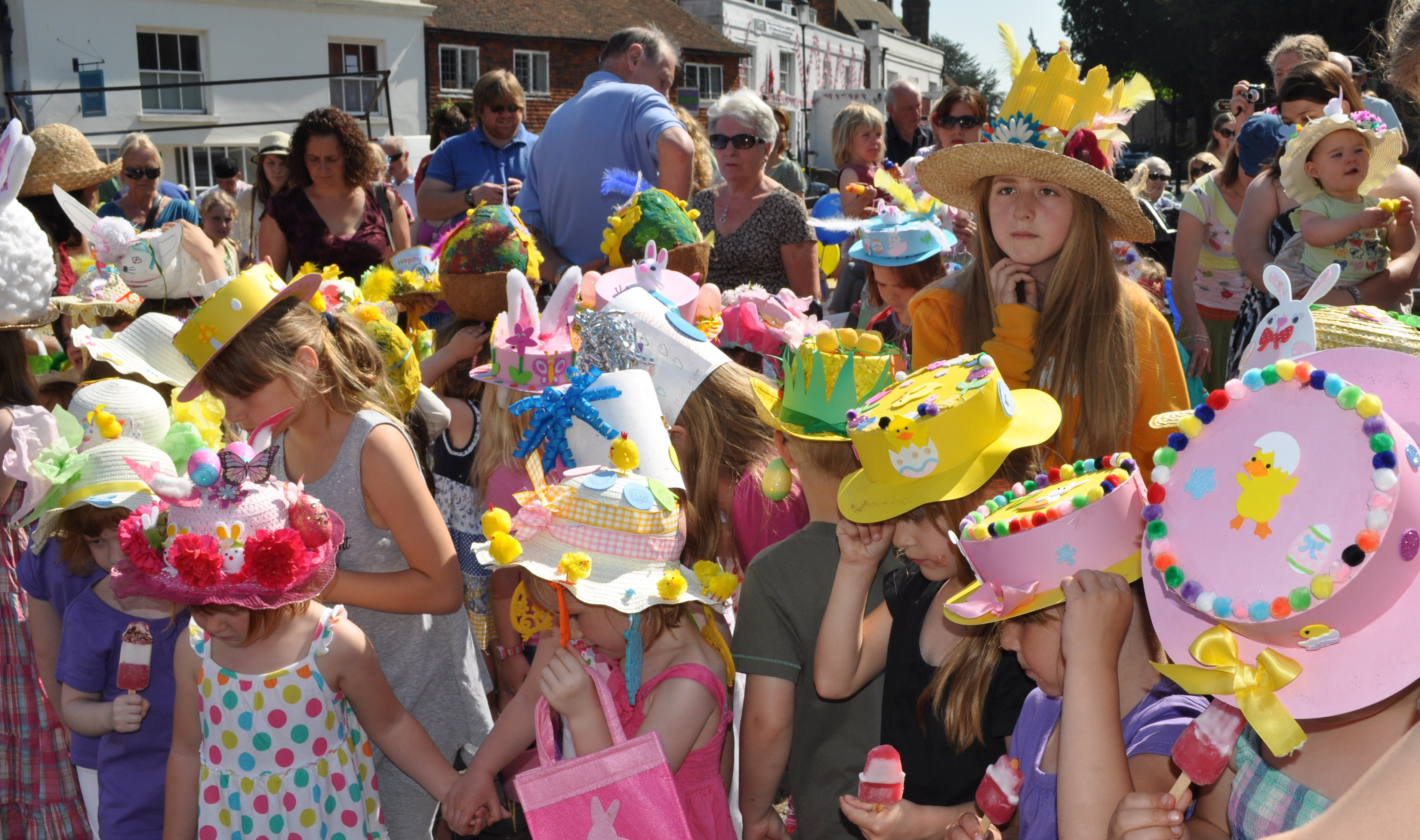 Easter Bonnet Parade at Battle Marbles