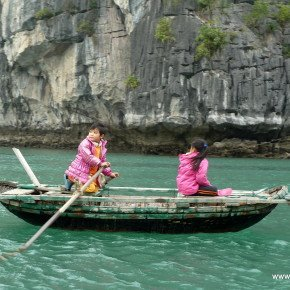 Girls in Boat, Halong Bay