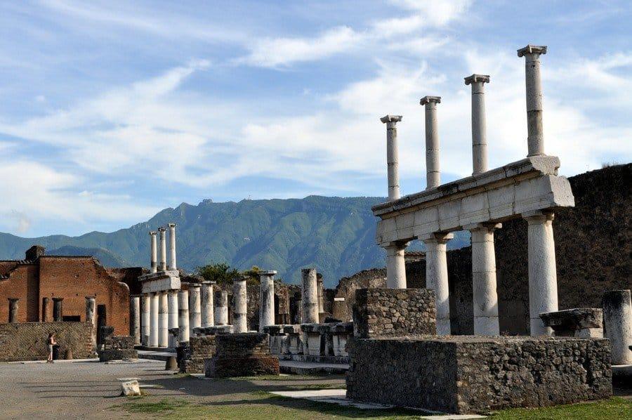Columns in Pompeii's main square