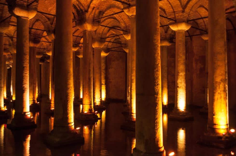 The eerie Basilica cistern, Istanbul