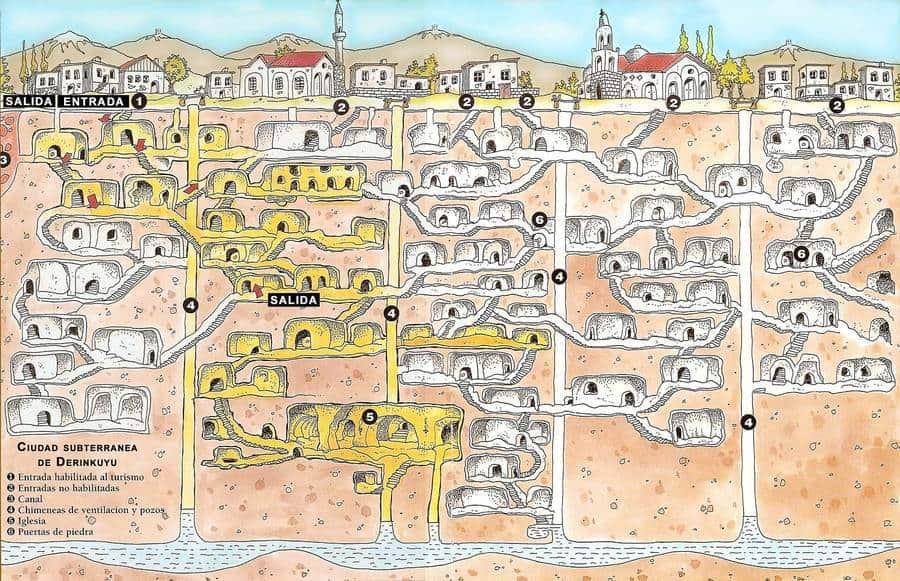 Derinkuyu Map