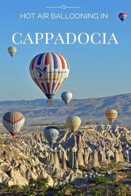 Hot air ballooning in Cappadocia Turkey - one for the bucket list