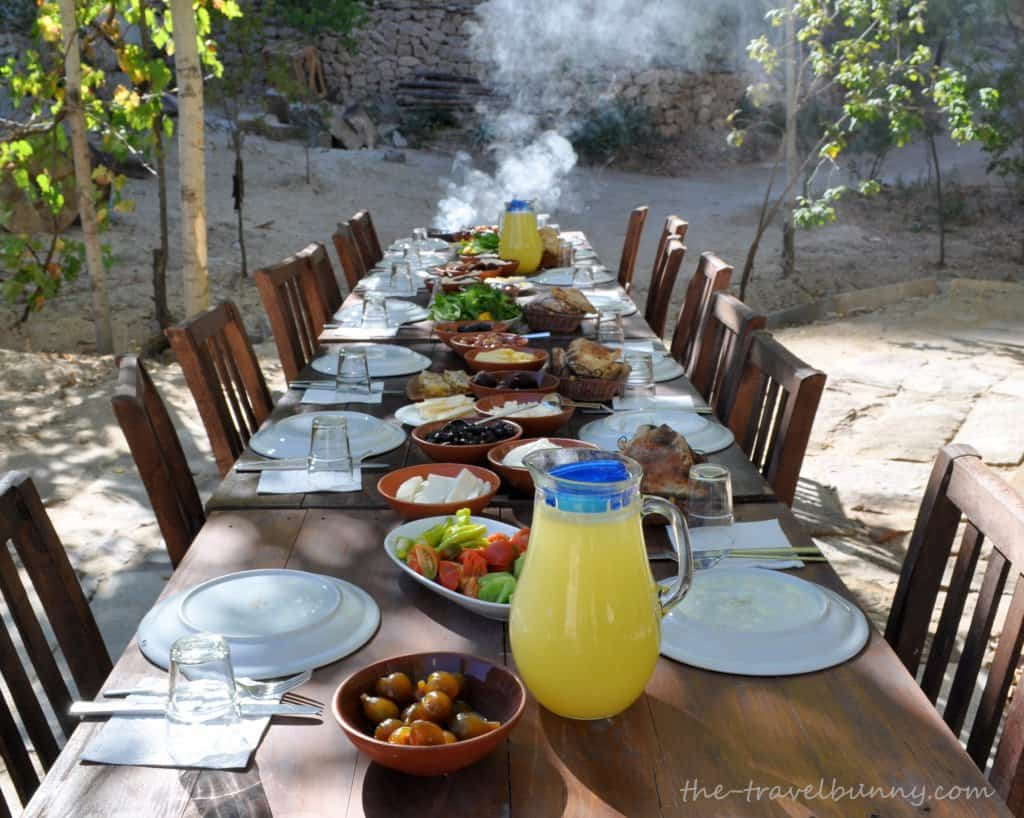 A traditional Turkish breakfast table