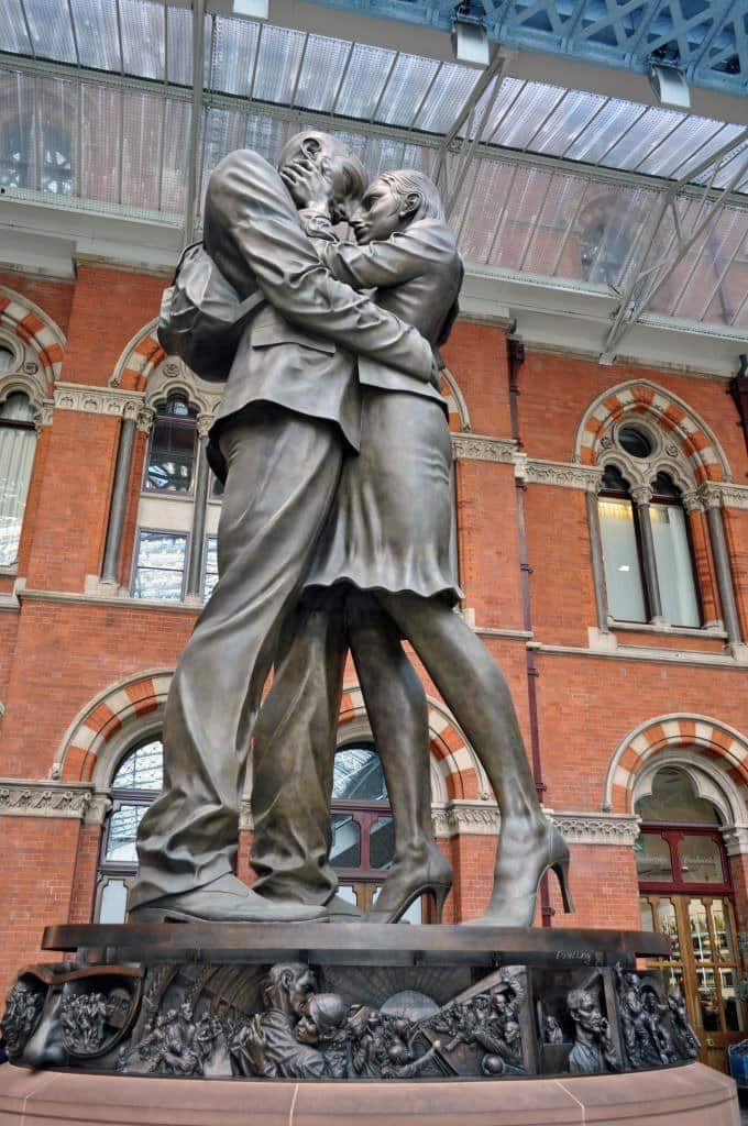 Meeting Place Statue St Pancras Station London