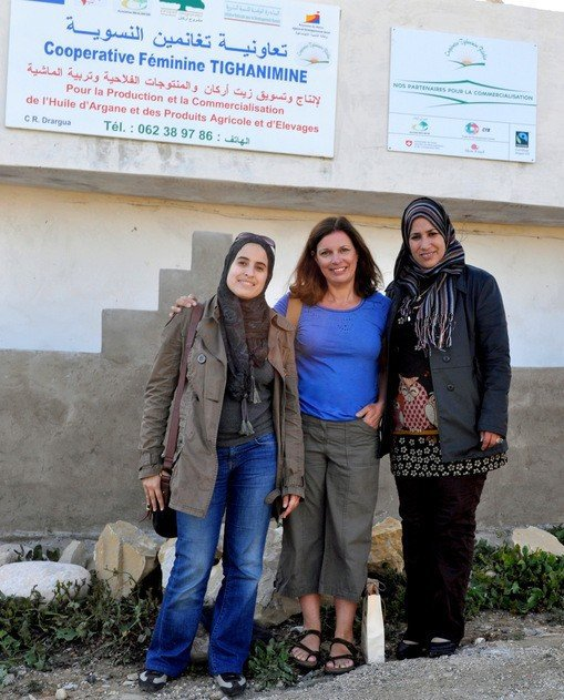 Afafe Daoud, myself and Nadia El Fatmi