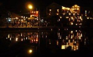 Lanterns across the river Hoi An