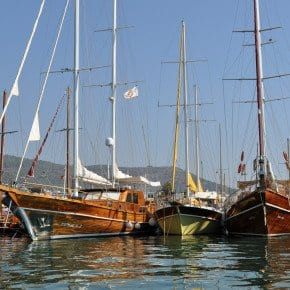 Gulets in Bodrum Harbour