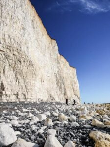Birling Gap Beach and cliffs in Each Sussex