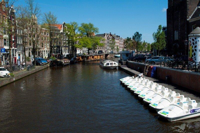 Pedalos by Westerkerk, Amsterdam