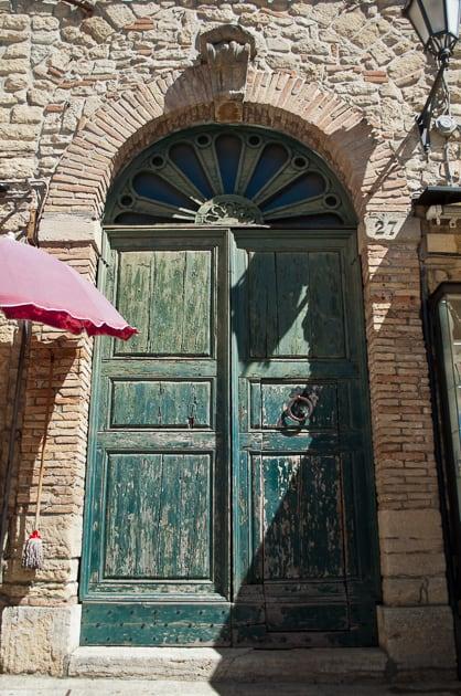 Old door in San Marino