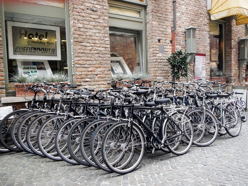 Bicycles in Bruges