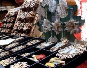 Bruges Lace Christmas Decorations