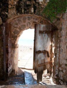 Gate to the beach, Budva