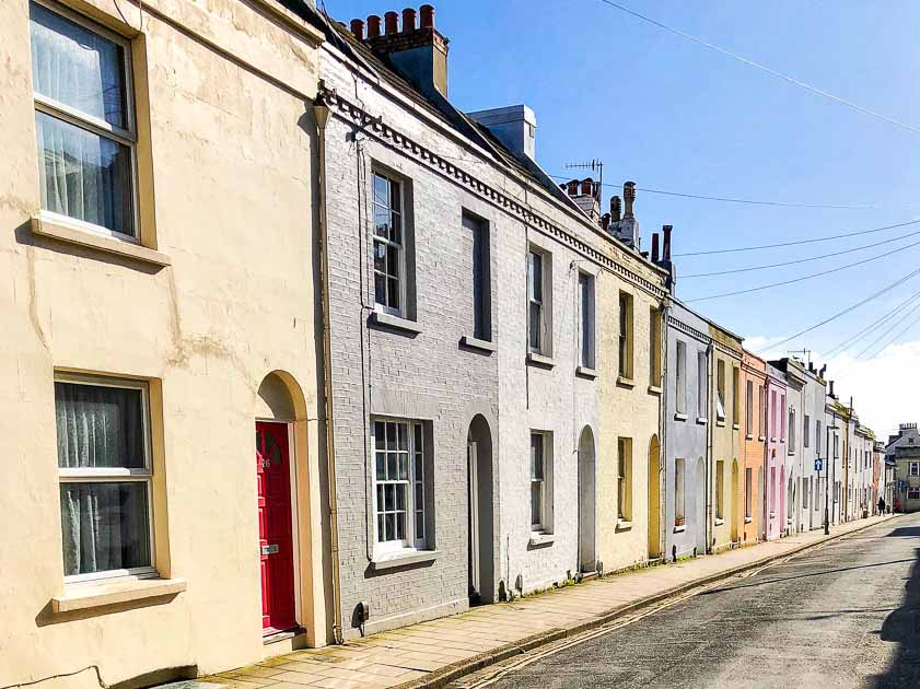 Terrace of houses Brighton, East Sussex