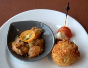 Smoked Trout and Deep-fried Cod Ball