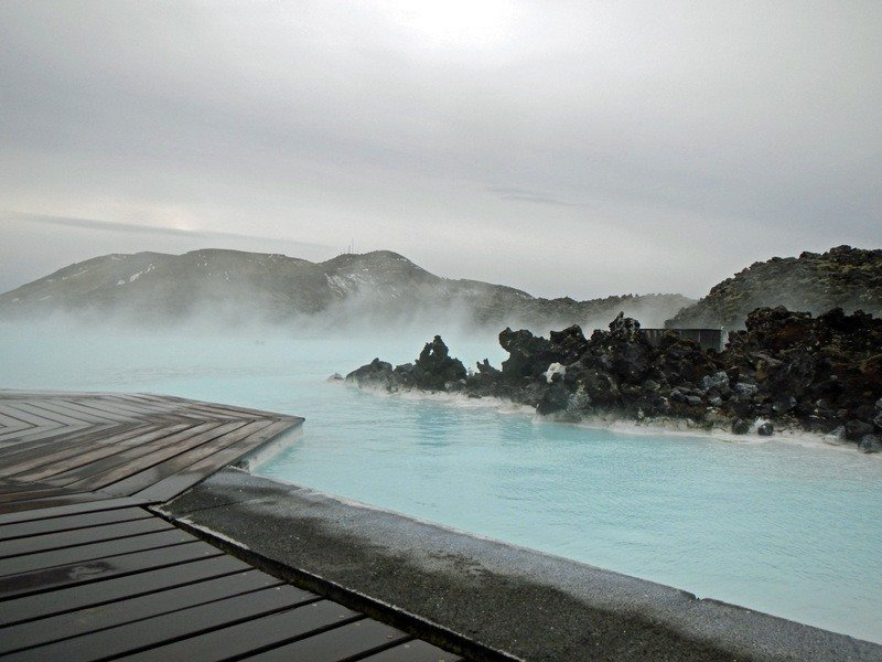 Lava Rocks at The Blue Lagoon, Iceland