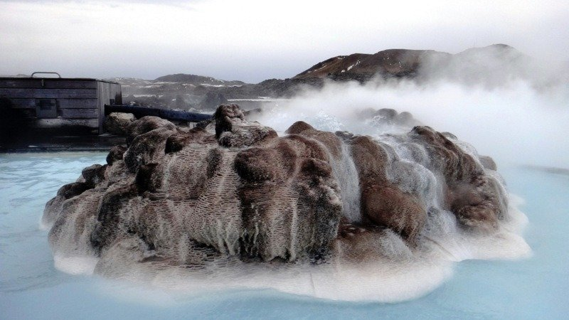 Fountain at The Blue Lagoon, Iceland