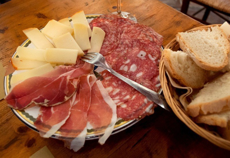 Tuscan food - Antipasto Misto