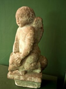Angel riding a Boar Statue at the Antiquarium, Sant'Appiano