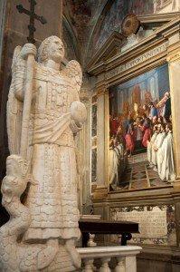 Statue in the church at Badia a Passignano