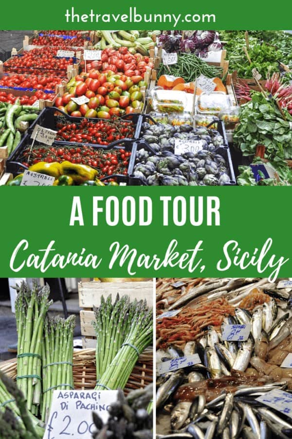 Catania market in Sicily