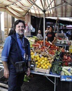 Maurizio our Sicilian Guide in Catania Market
