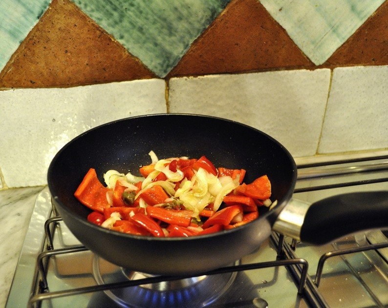 Cooking Sweet and Sour Peppers Sicilian Style