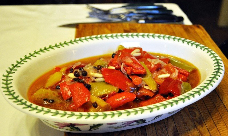 Sicilian style Peppers - Peperonata Agrodolce