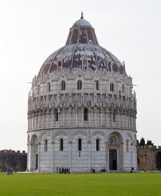 The Baptistry at Pisa