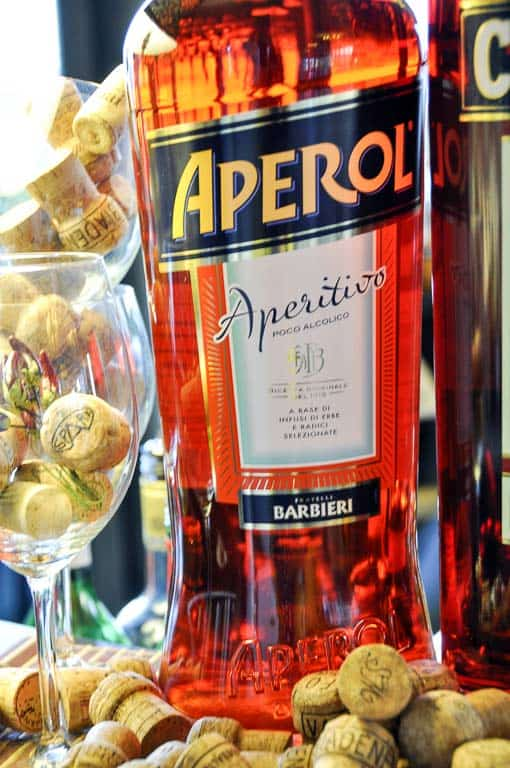 Bottle of Aperol aperitivo