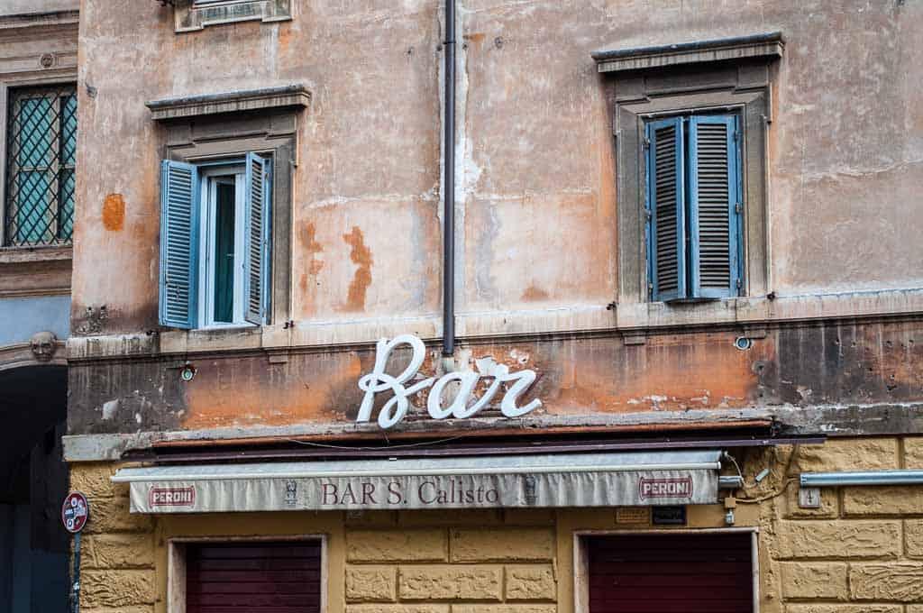 Bar sign, Rome