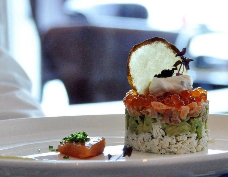 Avocado, Salmon and Crab Starter
