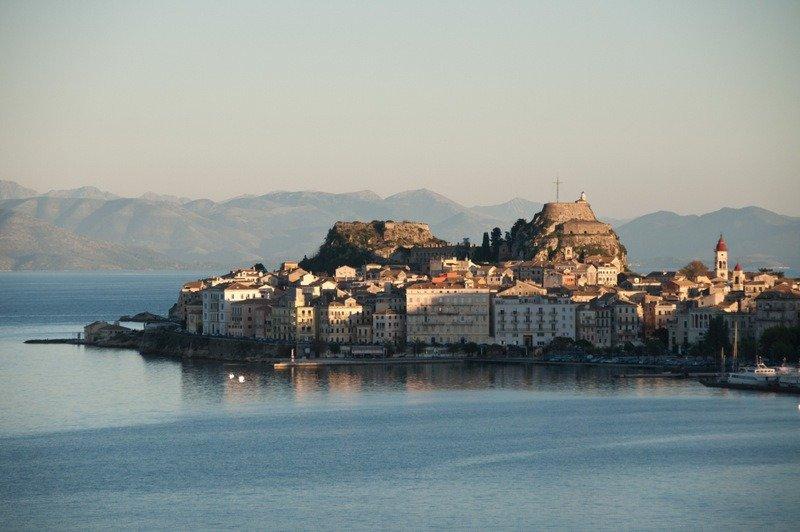 Corfu Old Town at Sunset