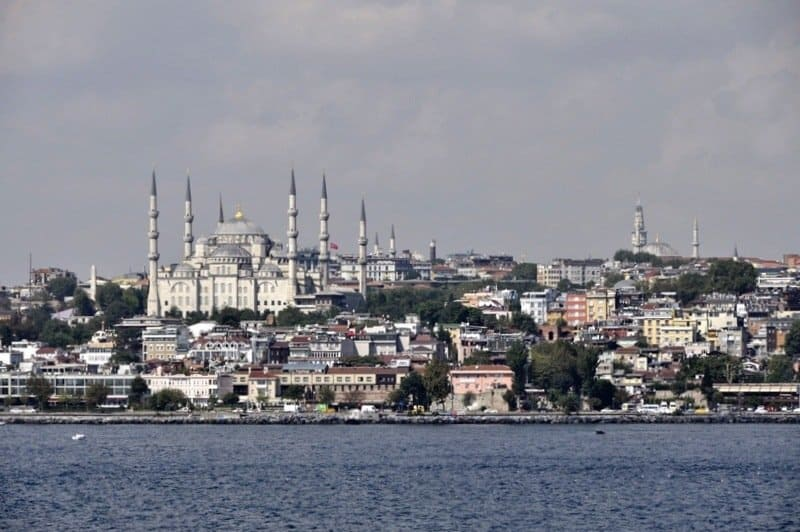 The Blue Mosque from The Bosphorus