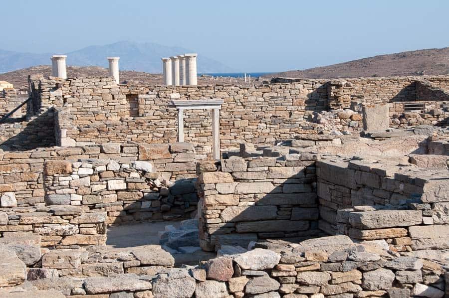 Ruins on Delos Island, Greece