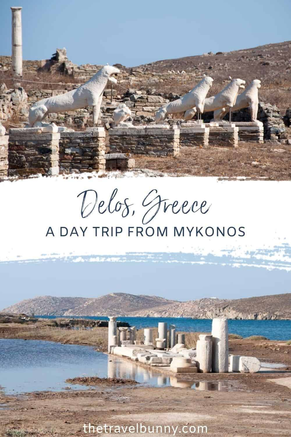 Visiting Delos on a day trip from Mykonos