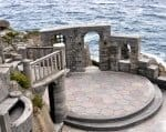 Stage at Minack Theatre, Cornwall