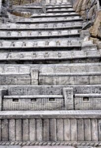Seats at The Minack Theatre, Cornwall