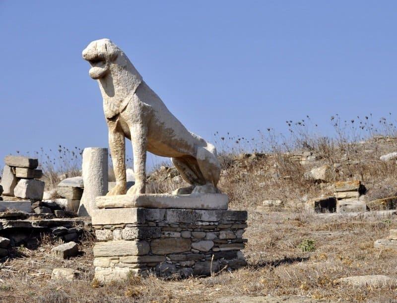 Delos Lion Statue