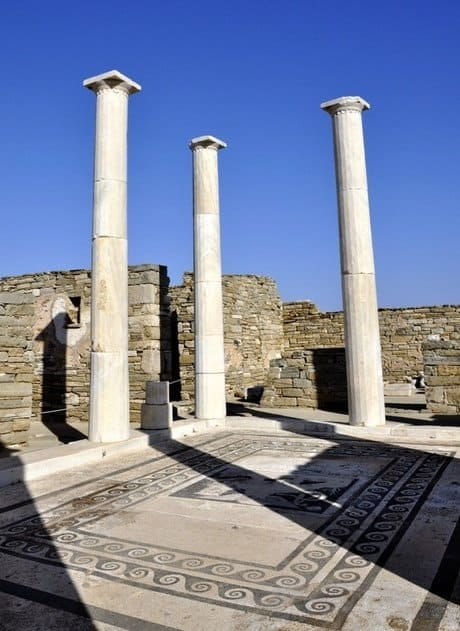 Pillars and Mosaics Delos, Greece