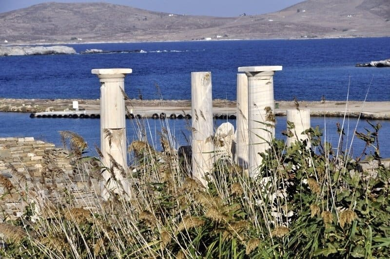 Pillars at Delos, Greece