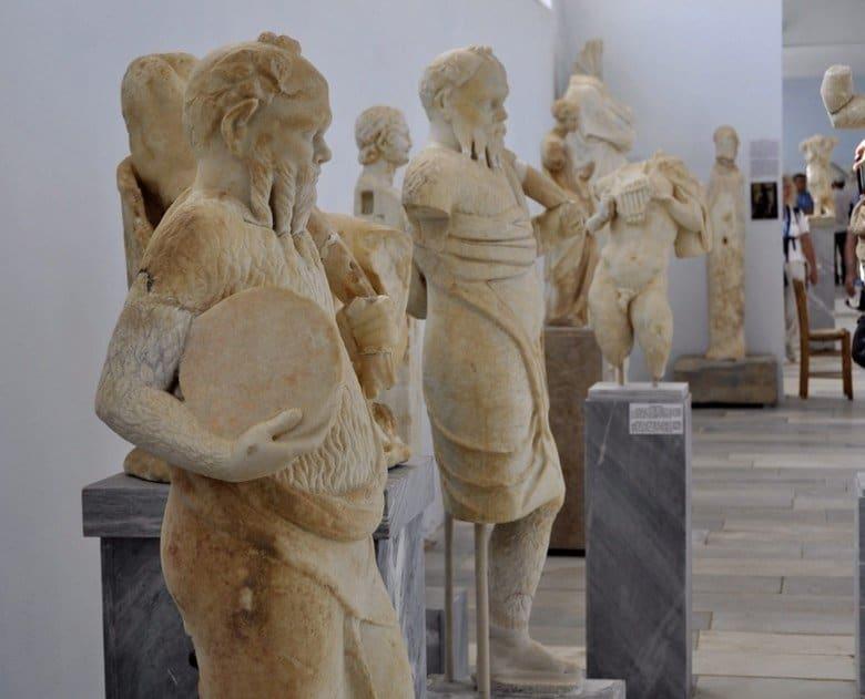 Statues in Delos Museum
