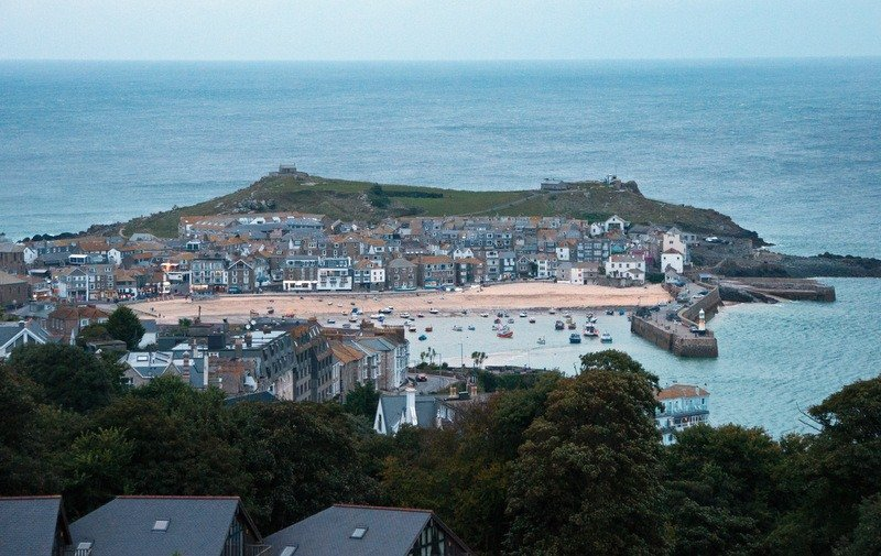 View from Tregenna Castle Resort, St Ives