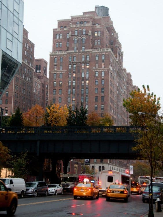 The High Line from the street