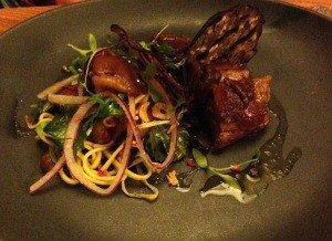 Satay Pork Salad Starter Tregenna Brasserie