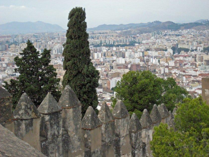 View from Castillo de Gibralfaro