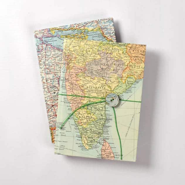 Atlas Notebook from Etsy