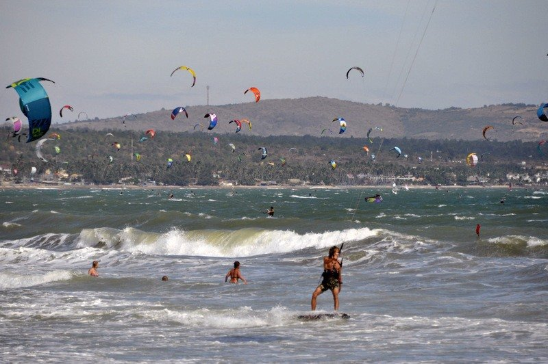 Kite-Surfers at Sea