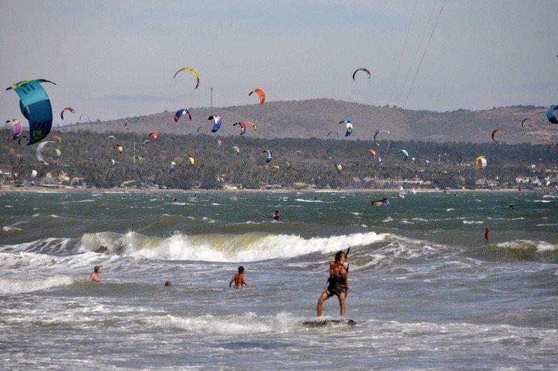 Kite-Surfers at Sea